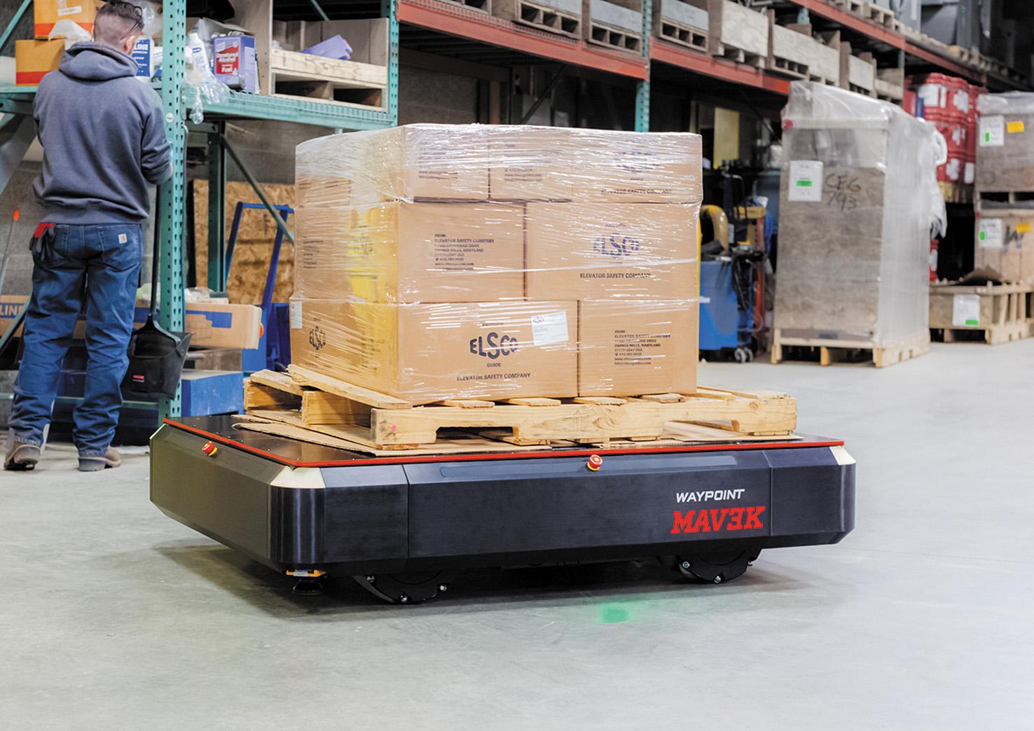 MAV3K — индустриальный автономный универсальный мобильный робот грузоподъемностью 3000 фунтов.