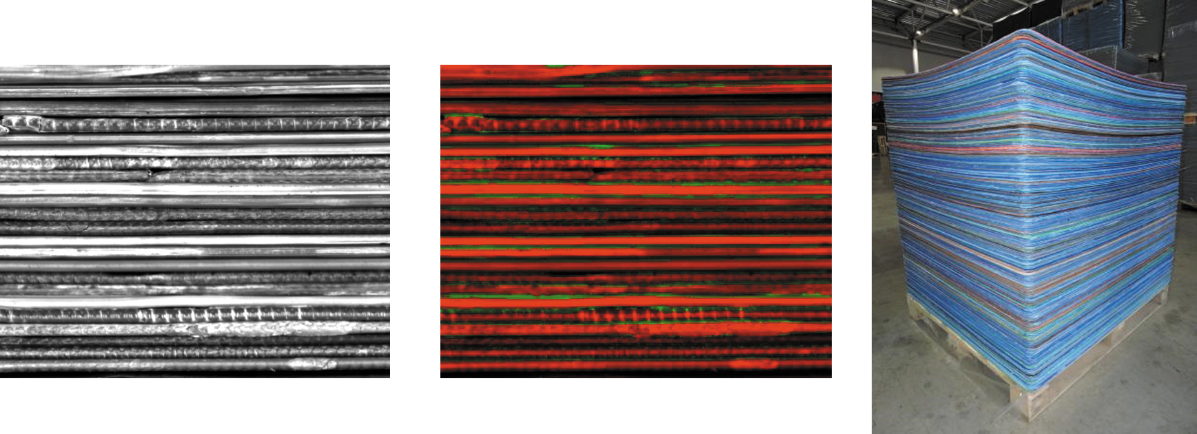 Подсчет полипропиленовых разделительных пластин на палете