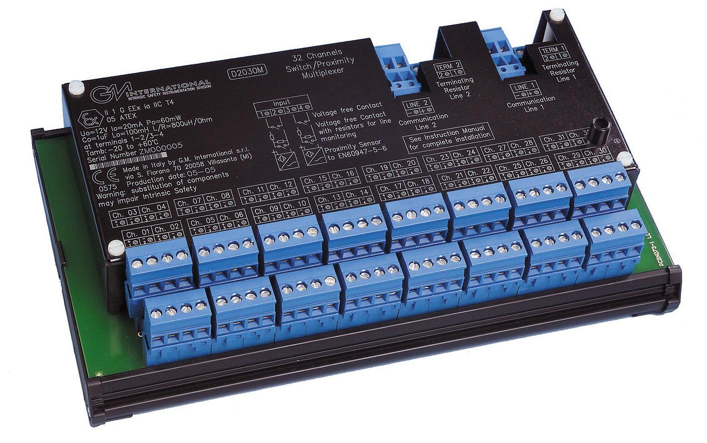 искробезопасный цифровой мультиплексор D2030M