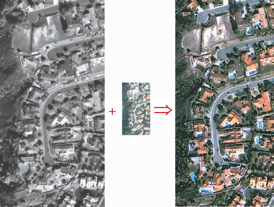 Слияние ПХ и МС сенсорных изображений