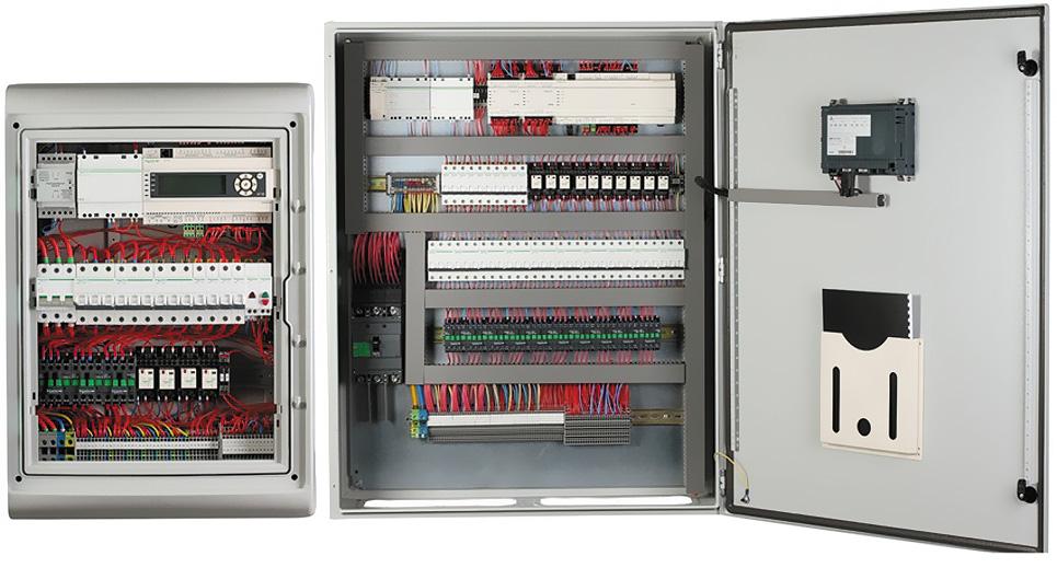 Шкафы управления SmartHVAC в открытом виде