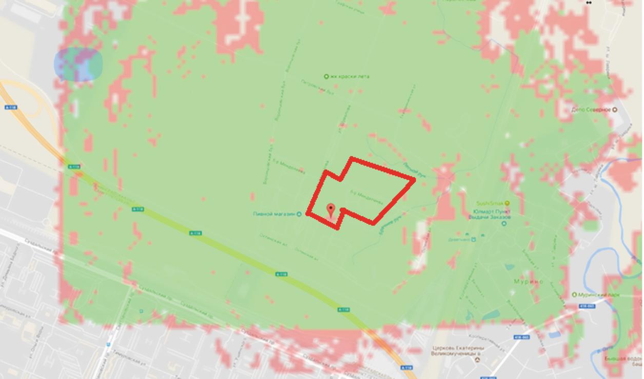 Карта покрытия LoRaWAN