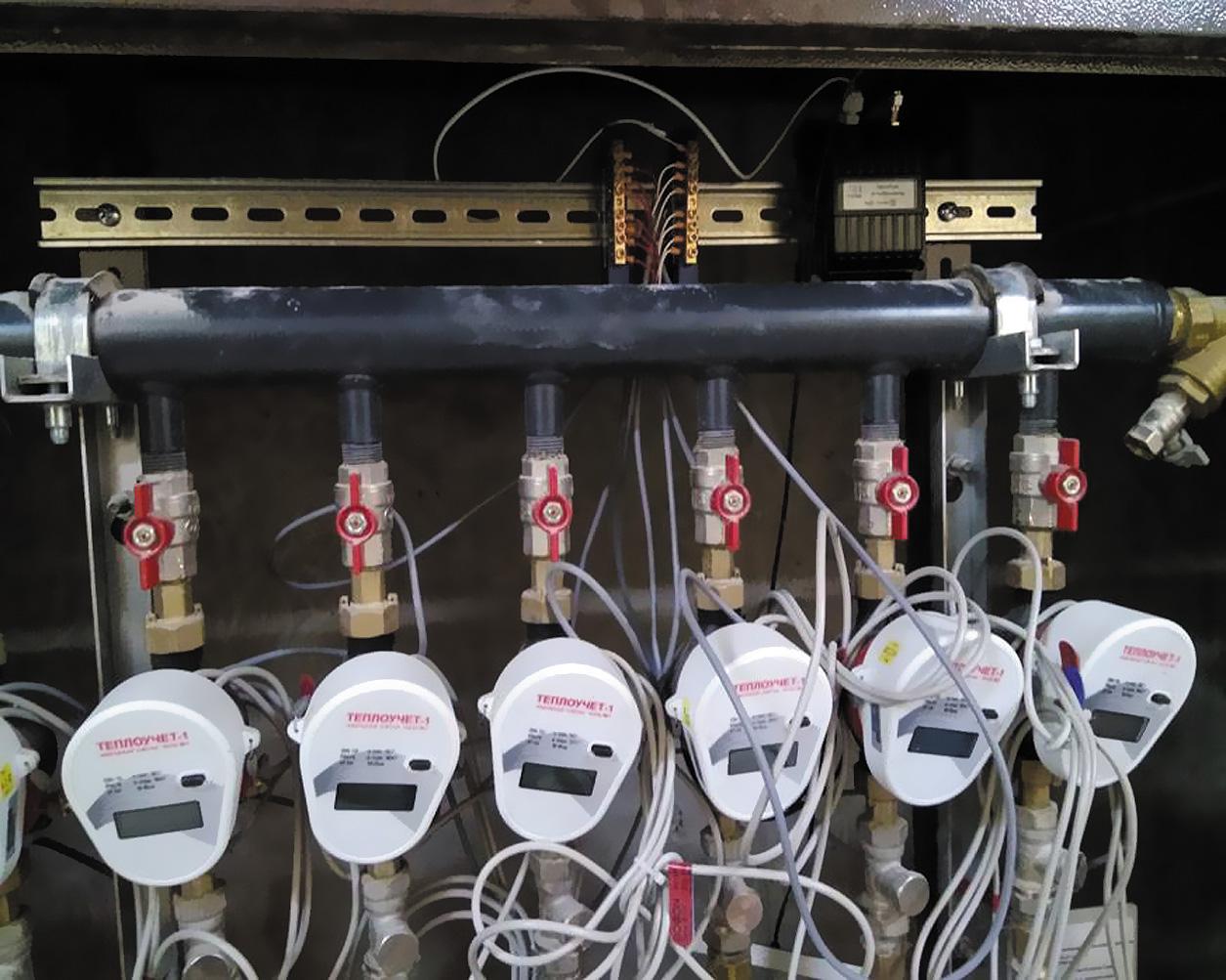 Коллекторный шкаф с установленным преобразователем M-Bus–LoRaWAN