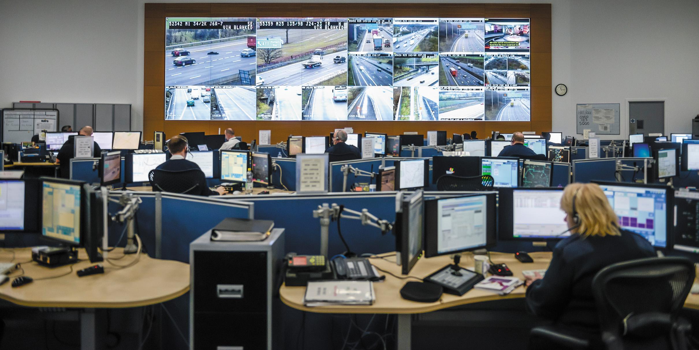 Диспетчерский зал регионального центра управления движением