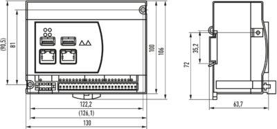 Габаритные размеры контроллера SBRD