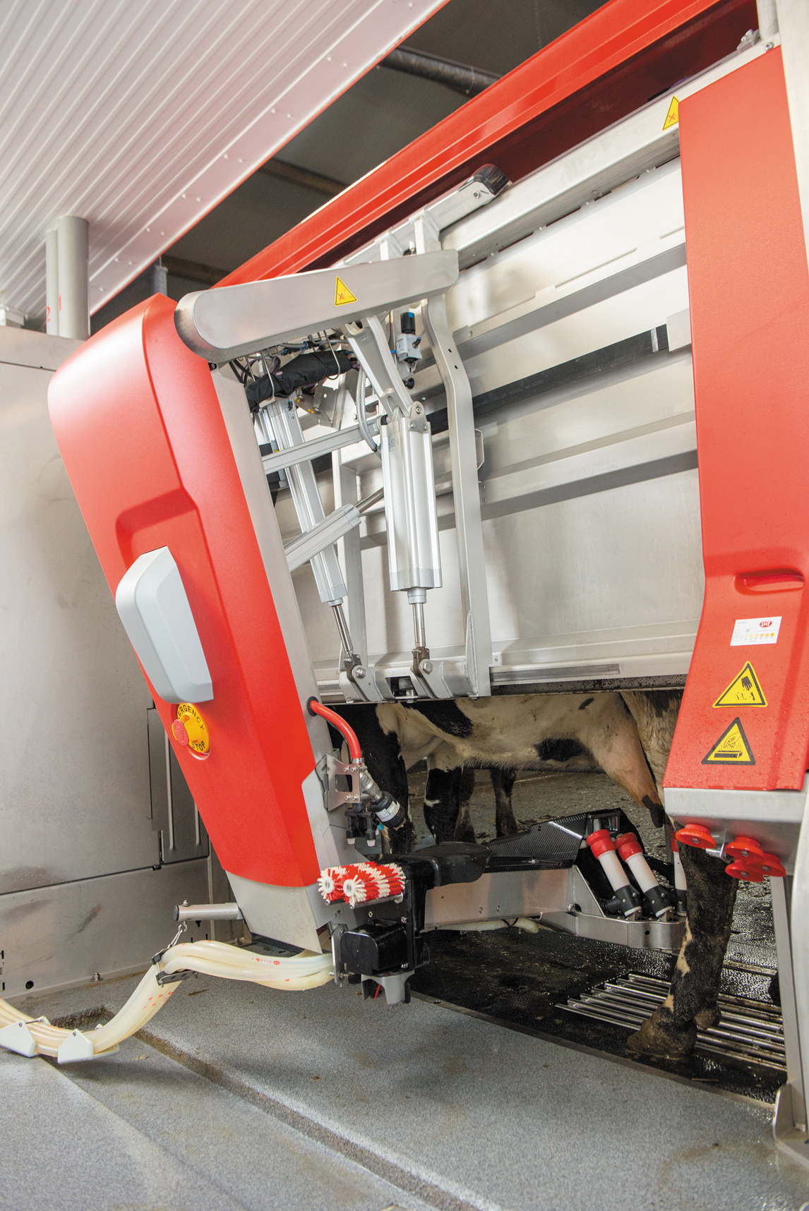 Гибридная рука доильного робота компании Lely Astronaut A5 — совместная разработка компаний Festo и Lely