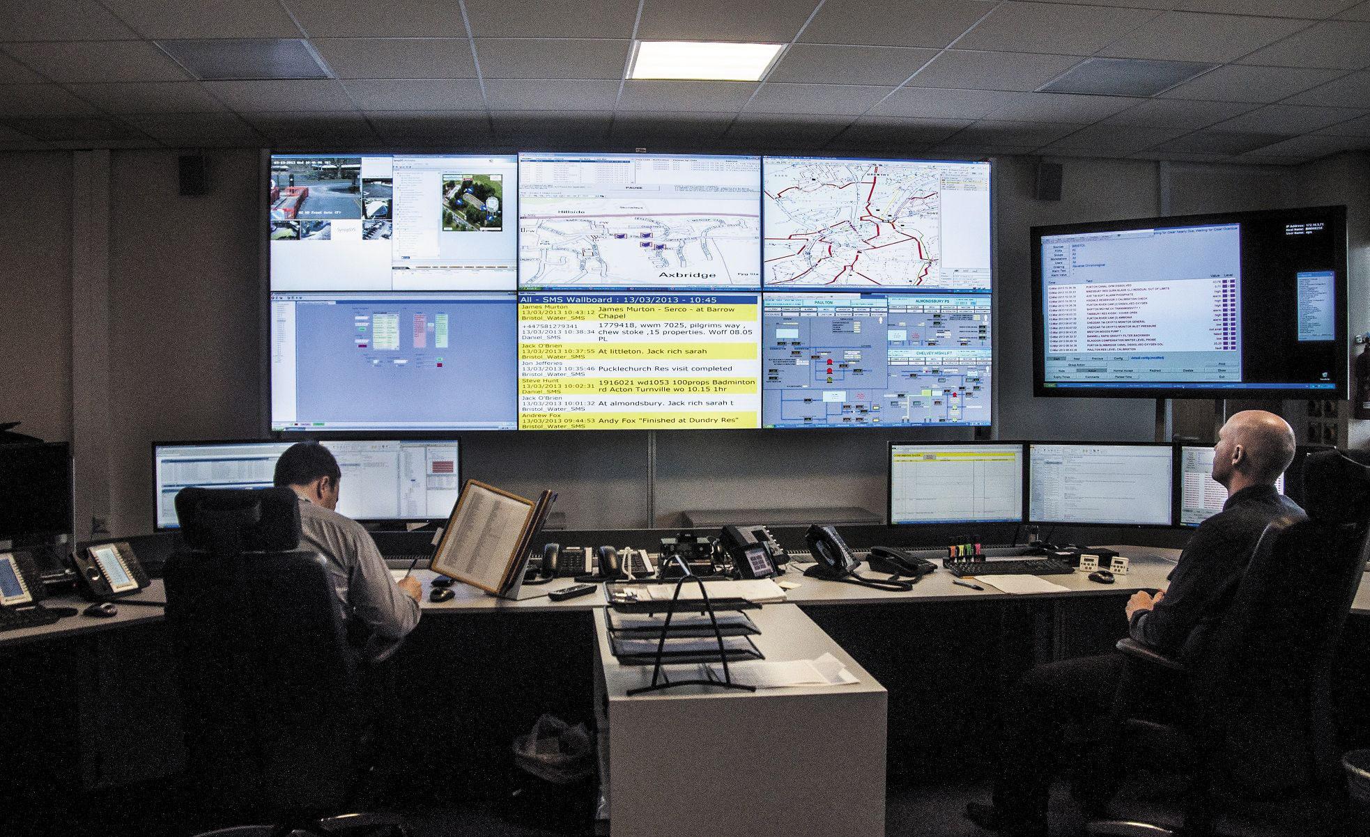 Водоснабжение под контролем: видеостена для диспетчерского центра
