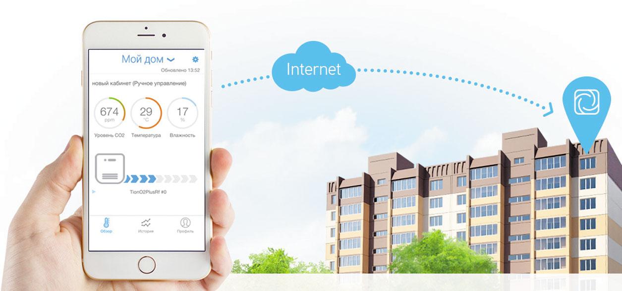 Рис. 2. Через мобильное приложение MagicAir можно управлять микроклиматом на расстоянии