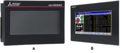 Графические панели оператора Mitsubishi GT2103 и GS2107