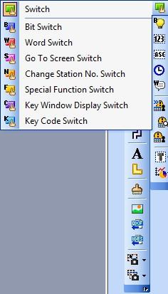 Функциональная панель программы GT Designer3