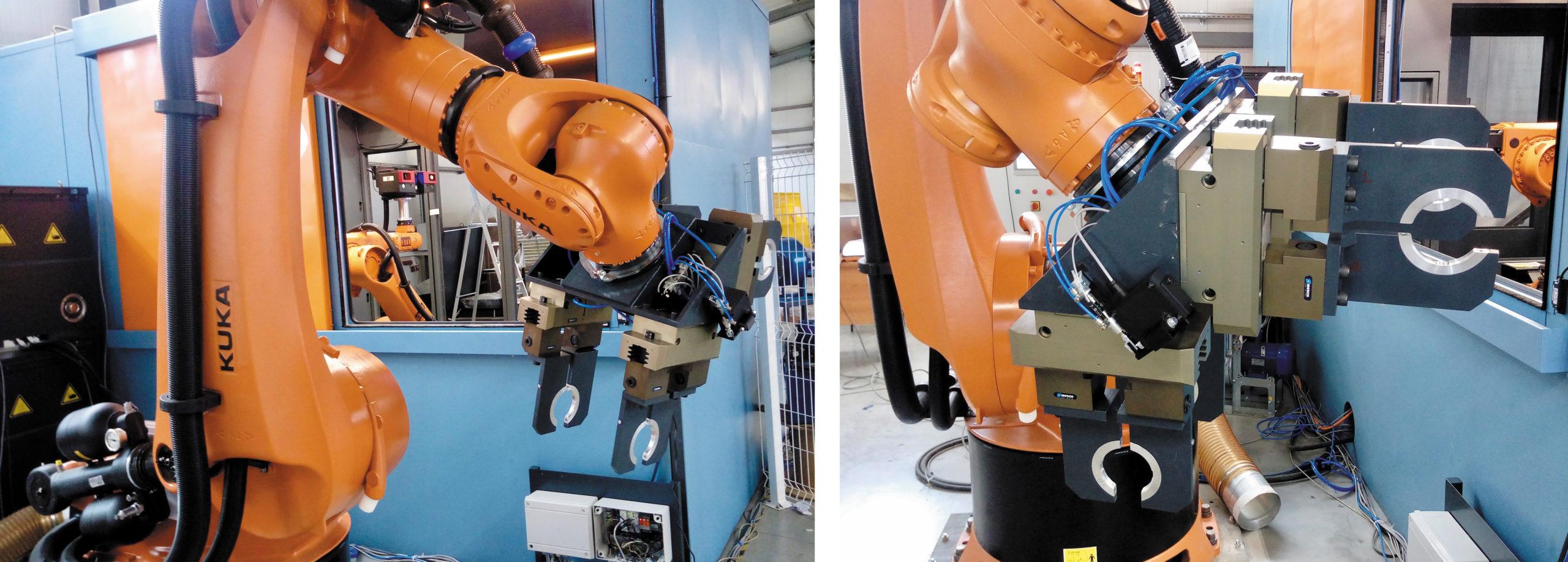 Робот KUKA KR360 с механизмом захвата