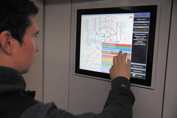 ЖК-дисплей в поезде «Москва»