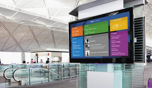 Дисплей Digital Signage в аэропорту