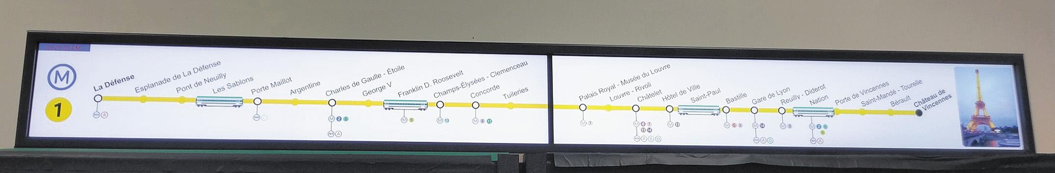 Монитор Litemax для вагона метро
