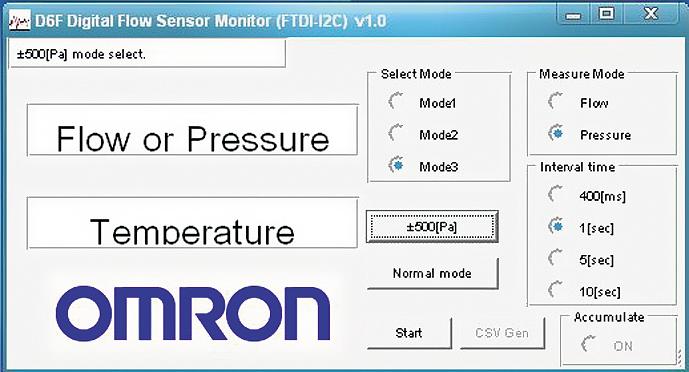датчик дифференциального давления D6F-PH