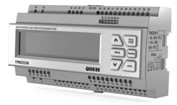 Внешний контроллер для одно- и двухконтурных систем отопления и ГВС ТРМ232М
