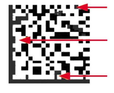 Код с плохой модуляцией, вызванной нерегулярными темными областями