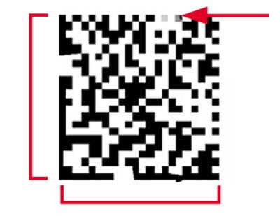 Повреждение фиксированного шаблона штрих-кода