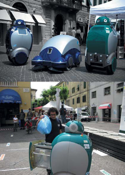 Роботы-мусорщики из проекта «Dustbot»