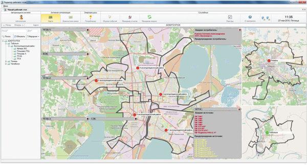 Рис. 2. Карта города