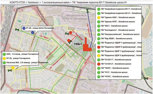 Рис 3. Карта района