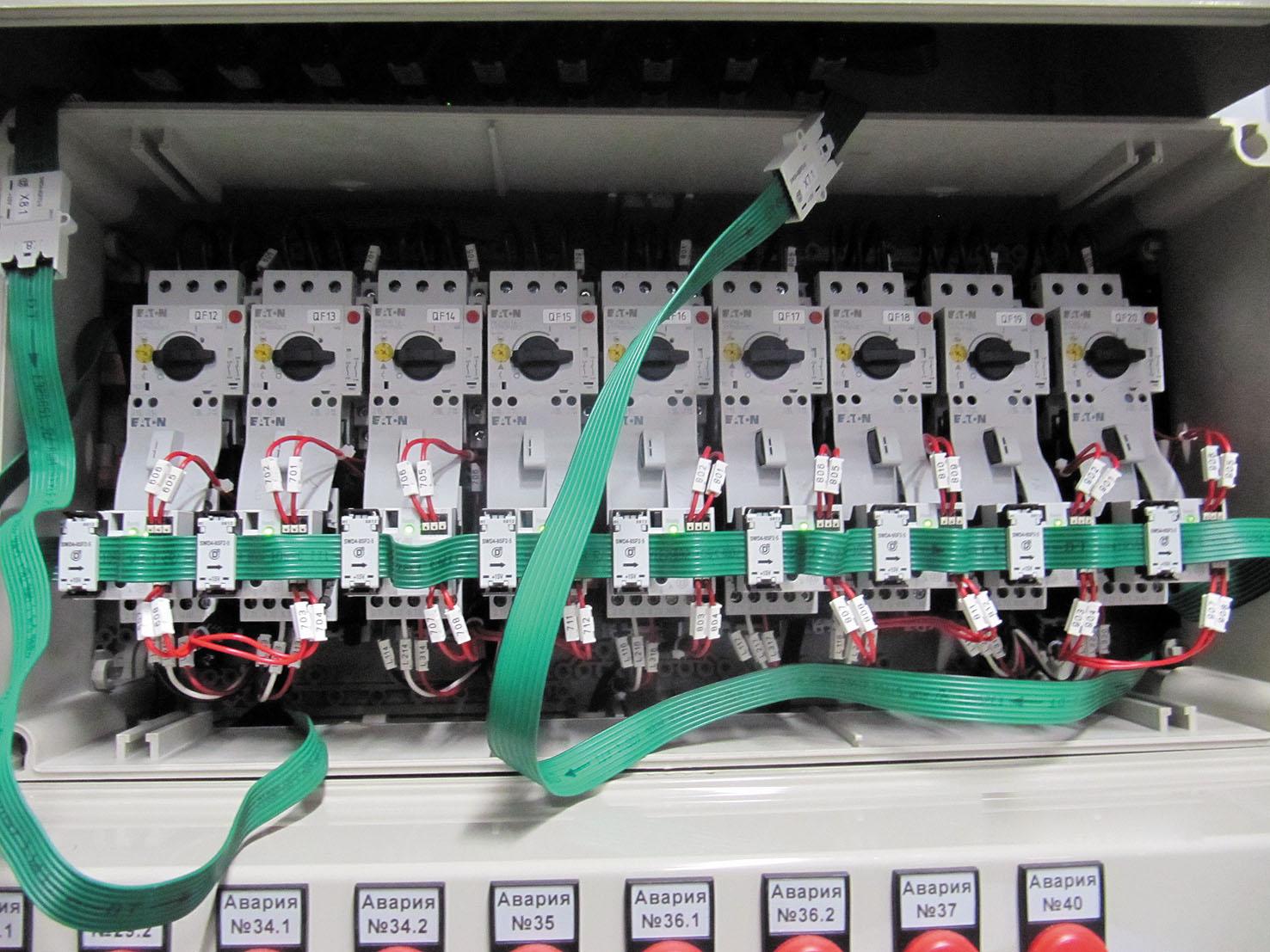 Рис. 5. Коммуникационная система Eaton SmartWire-DT на заводе «ДАМАТЕ», г. Пенза