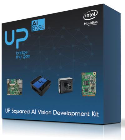 Набор UP Squared AI Vision kit, поддерживающий реализацию функционала глубокого обучения AI EDGE