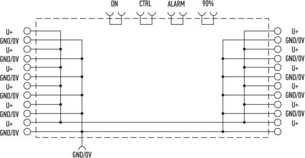 Блок-схема модуля с настраиваемым током ограничения