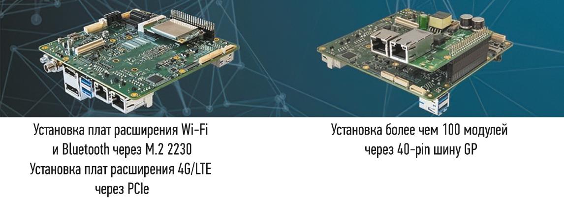 Установка плат расширения Wi-Fi & Bluetooth и UP-POE HAT на плате UP Xtreme
