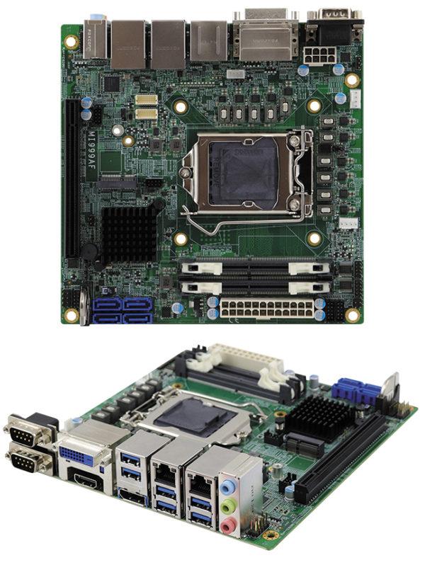 Материнская плата серии MI999 Mini-ITX компании iBASE