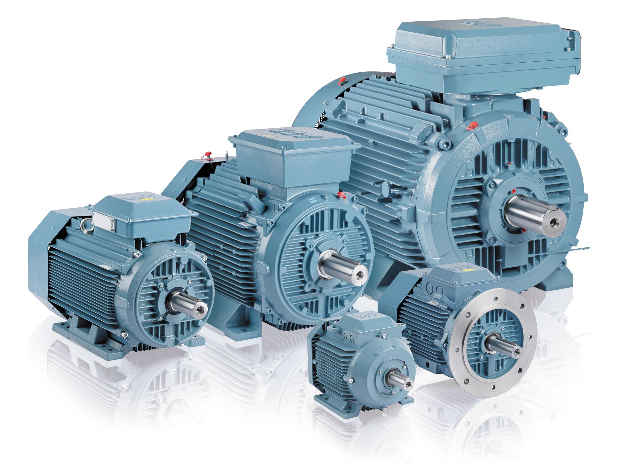 Рис. 1. Двигатели промышленного назначения от АББ