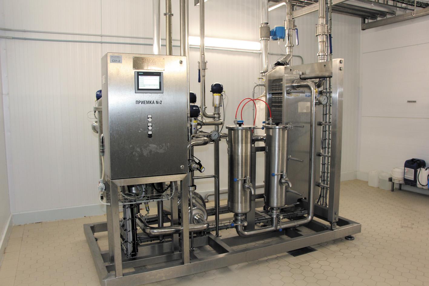 Приемная установка для перекачки молока из молоковоза в буферный танк