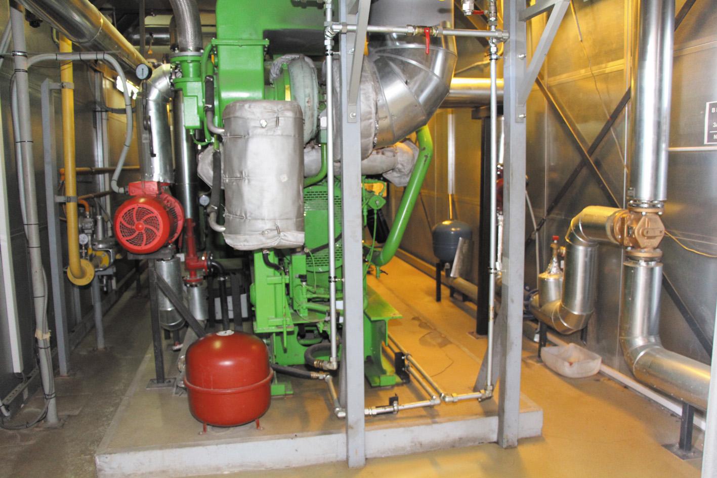 Газопоршневая установка (ГПУ) когенерационного типа