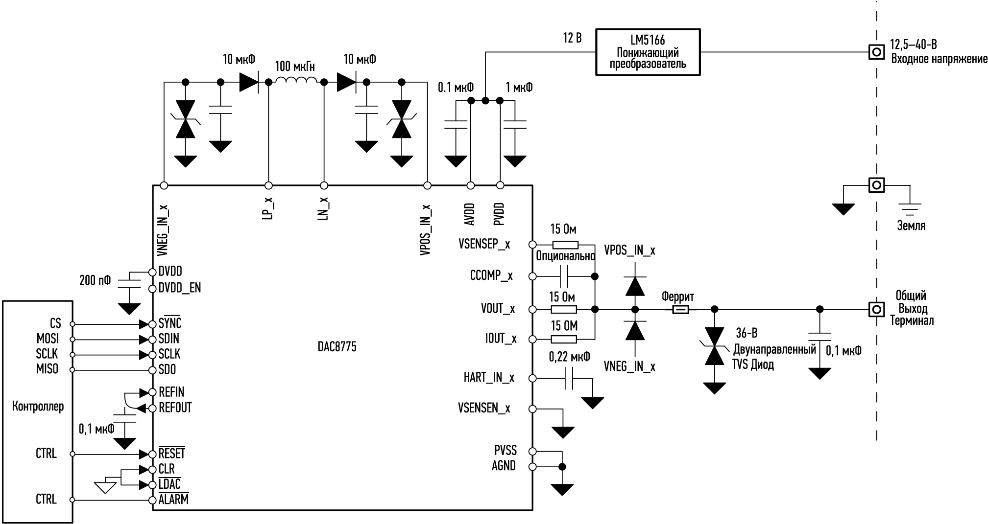 Схема включения модуля TIPD215