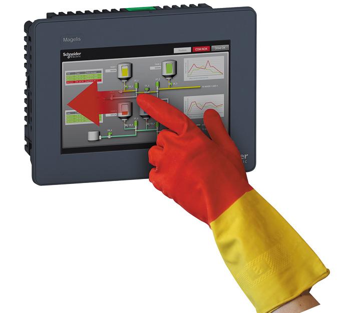 Magelis GTU. Работа в перчатках