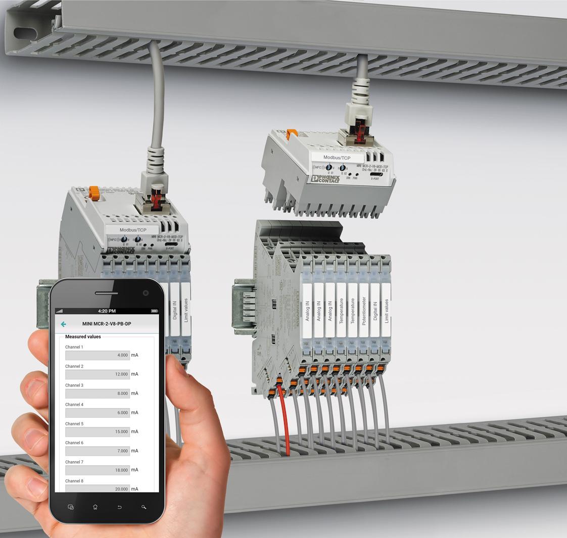 настройка устройств серии MINI Analog Pro посредством NFC-интерфейса
