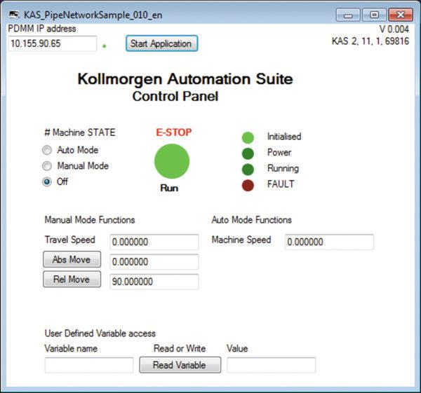 Пример HTTP-связи платформы VB2008 с контроллером движения