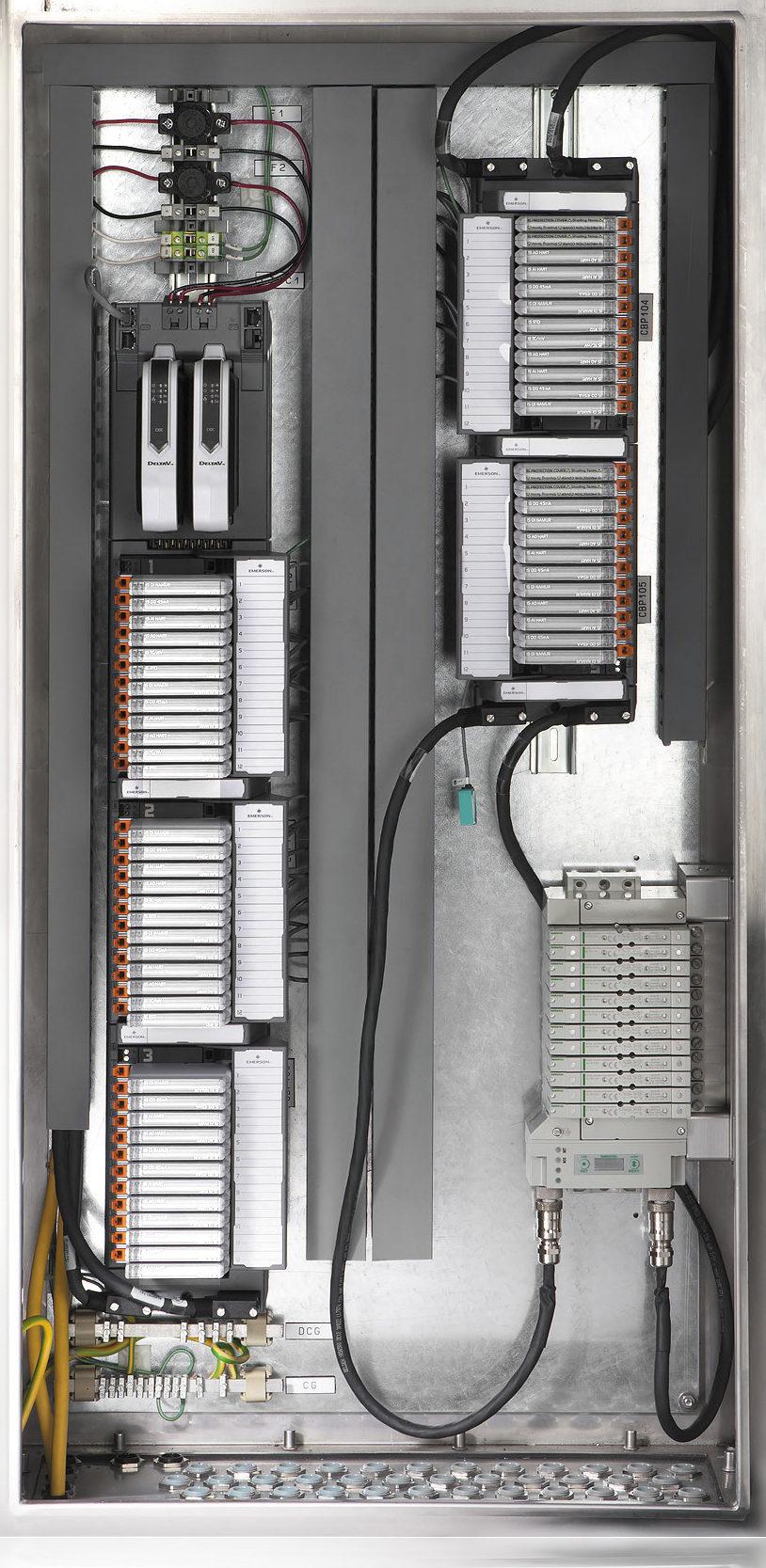 Пневмоострова, установленные в шкаф с модулями CHARM