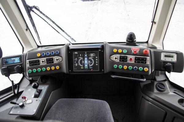 Рабочее место водителя трамвая
