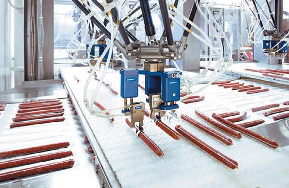Роботизированная упаковка колбасных изделий