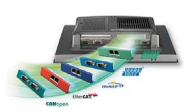 РИС. 4. Ассортимент интерфейсных модулей iDoor Advantech, оперативно встраиваемых в панельные компьютеры