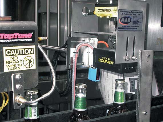 Контроль наличия и положения пробки бутылки техническим зрением