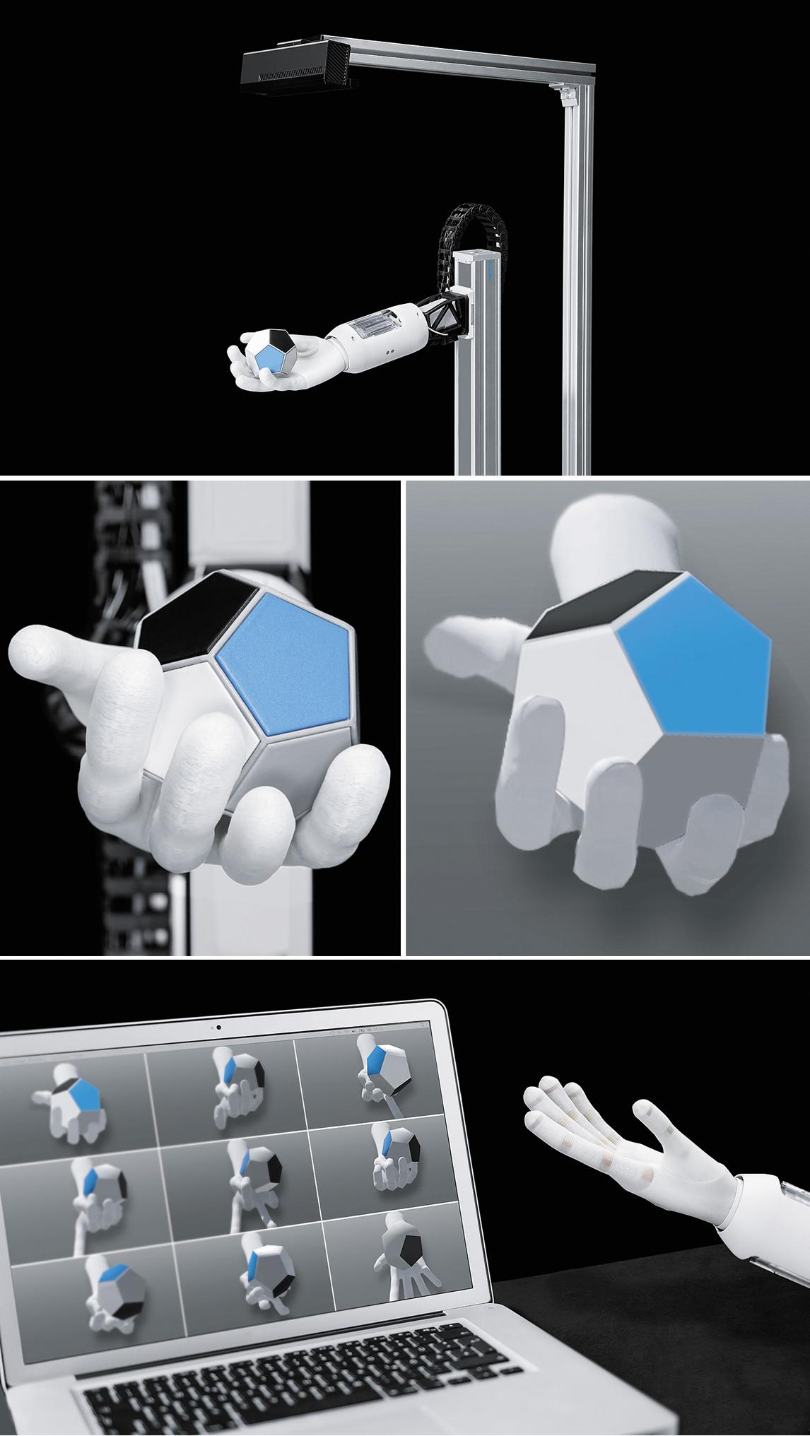 Иллюстрации алгоритма принятия решения системой с использованием манипулятора BionicSoftHand