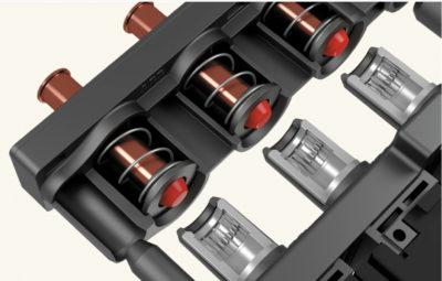 Пример усовершенствованной контактной системы с ламельными контактами трубчатой формы