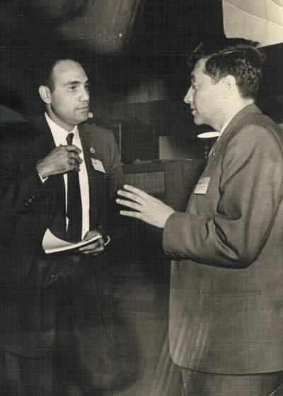 Яков Залманович Цыпкин и Элиаху Джури, I Конгресс ИФАК (1960 г.)