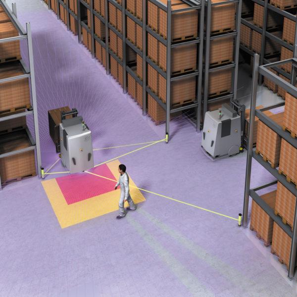 Сканеры безопасности microScan3 обеспечивают управление транспортными средствами и внедрение интеллектуальной интралогистики