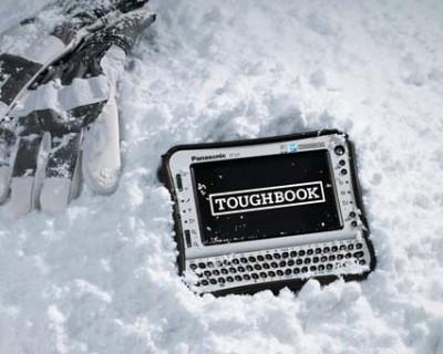 Toughbook CF-U1 в снегу