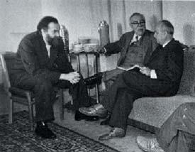 Винер с А. А. Ляпуновым (слева) и Г. М. Франком в Москве (1960 г.)