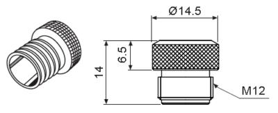 Влагозащитный металлический колпачок P96-M12-1