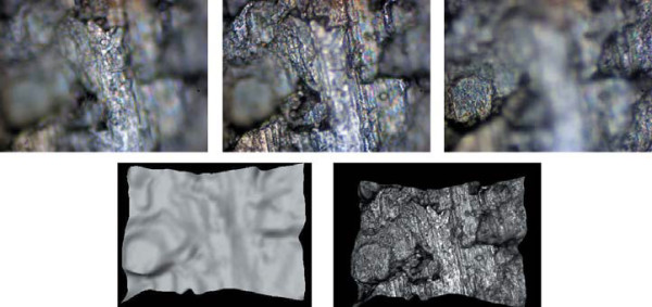 Восстановление 3D-профиля листа металла, наблюдаемого с помощью микроскопа, методом «глубина